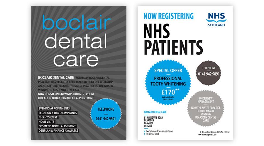 Boclair Dental Care Leaflets